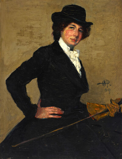 Alfred Wolmark, 'Portrait of Mrs Ethel Solomon in Riding Habit ', 1909