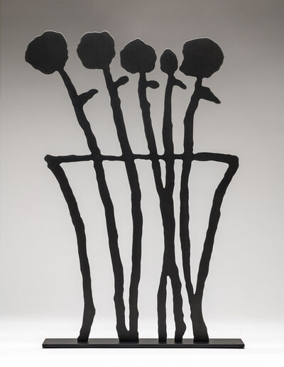 Donald Baechler, 'Black Flowers (sculpture)', 2019