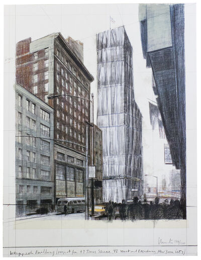Christo, 'Wrapped Building Times Square', 2004
