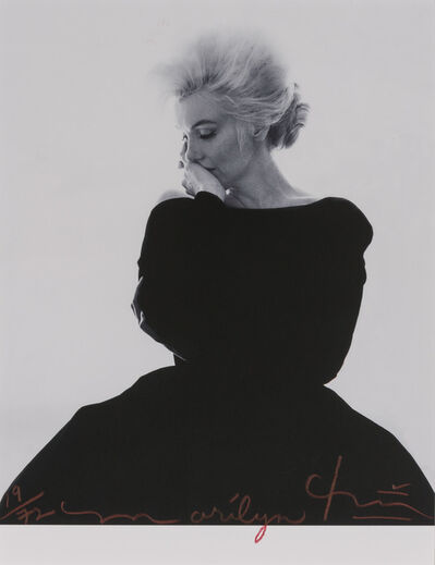 Bert Stern, 'Marilyn Monroe looking pensive in black Dior dress, from The Last Sitting for Vogue', 1962
