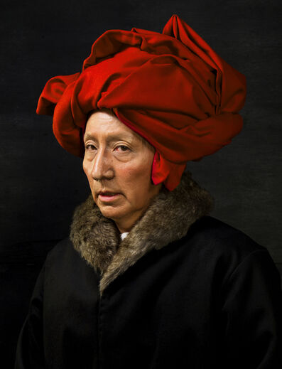 Yasumasa Morimura, 'Self-Portraits through Art History (Van Eyck in a Red Turban)', 20162018