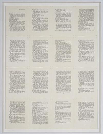 Irma Blank, 'Trascrizioni', 1976