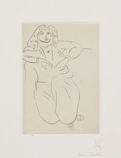 Henri Matisse, 'Orientale, tatouage en croix sur la poitrine (Oriental, Cross Tattoo on Chest) (D. 154)', 1929