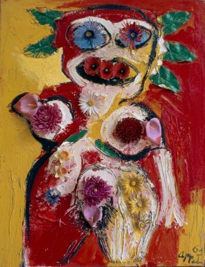 Karel Appel, 'Woman with Flowers No.1', 1963