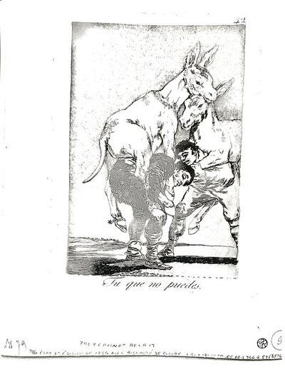 Francisco de Goya, 'Tú que no puedes', 1799