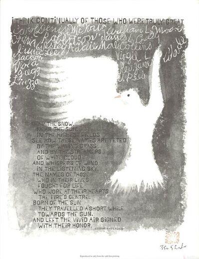 Ben Shahn, 'I Think Continually', 1965