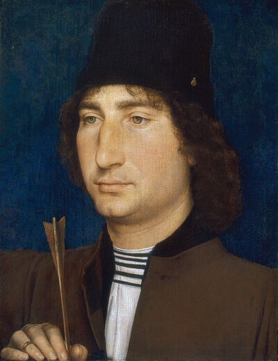 Hans Memling, 'Portrait of a Man with an Arrow', ca. 1470/1475
