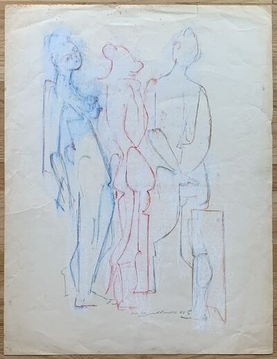 Hans Burkhardt, 'Untitled (Three Nudes in Red, White and Blue)', 1968