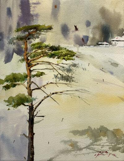 Seongmo Yang, 'Snow Pine tree', 2017