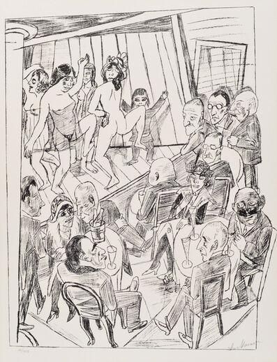 Max Beckmann, 'Striptease', 1922