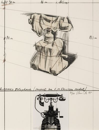 Christo and Jeanne-Claude, 'Wrapped Telephone, Project for L.M. Ericsson Model (Schellmann 119)', 1985