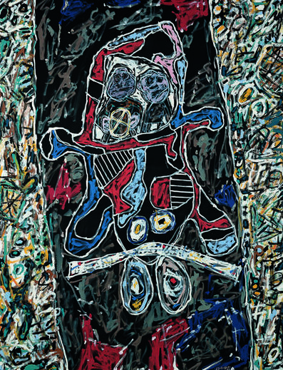 Jean Dubuffet, 'Automobile à la route noire (Car on a Black Route)', 1963