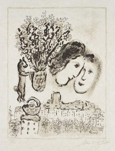 Marc Chagall, 'Double visage gris (Double Gray Portrait)', 1975