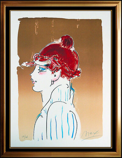 Peter Max, 'Peter Max Color Silkscreen Girl From Ibiza Signed Blushing Beauty Painting Art', 1970-1989