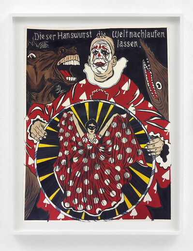 Marcel Dzama, 'Let the Women rule after the clown is through', 2018