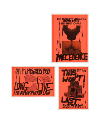 Sterling Ruby, 'ANTI-PRINT POSTER (1-3)', 2007