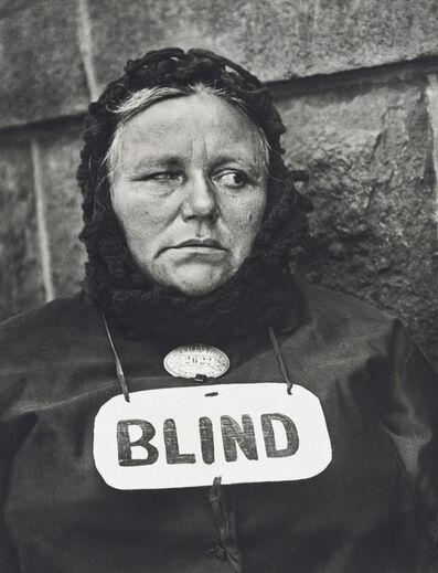 Paul Strand, 'Blind Woman, New York', 1916