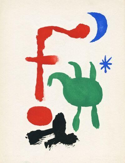 Joan Miró, 'Femme et Oiseaux dans la Nuit', 1947
