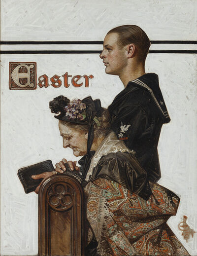Joseph Christian Leyendecker, 'Easter, Saturday Evening Post Magazine Cover', 1918