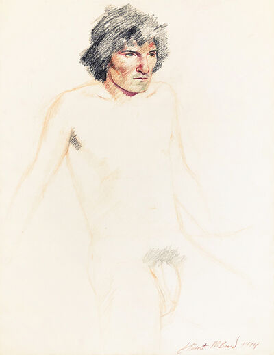 Mark Beard, 'Untitled (Nude Man with Black Hair)', 1974