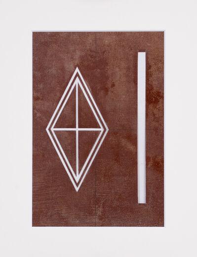 Unknown Artist, 'Ise katagami (stencil), rhombus pattern, Japanese, Showa period', 1960-1969