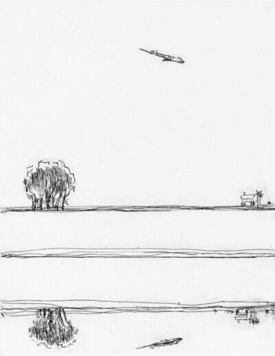Wayne Thiebaud, 'River and Airplane', 2019