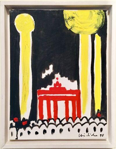 Karl Horst Hödicke, 'Raketen über dem Brandenburger Tor', 1990