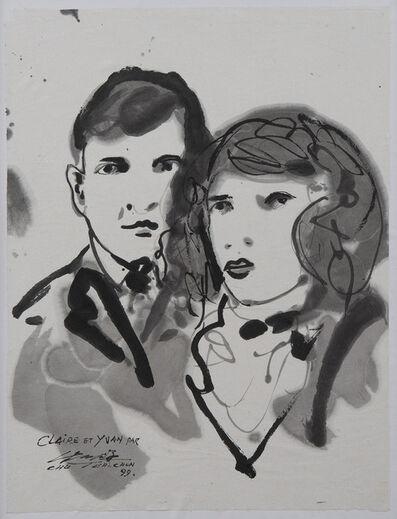 Chu Teh-Chun, 'Portraits de Claire et Yvan Groll', 1999
