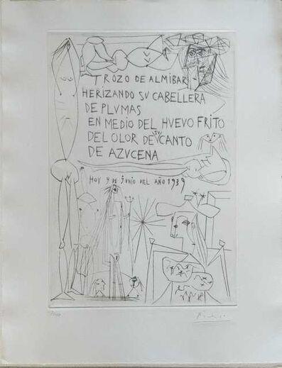 Pablo Picasso, 'El entierro del Conde de Orgaz', 1968
