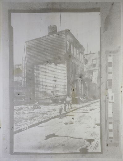 Matthew Brandt, '3984803u2 (Vacant lot after demolition; wood frame  house with boarded windows, 1936)', 2014
