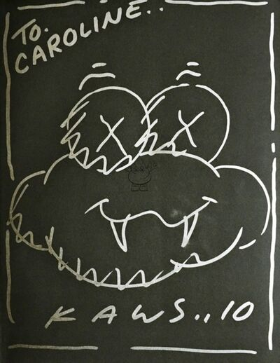 KAWS, 'Unique Cloud Drawing, inscribed to Caroline', 2010