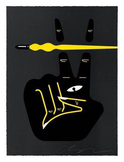 Cleon Peterson, 'Peace- War (Black)', 2021