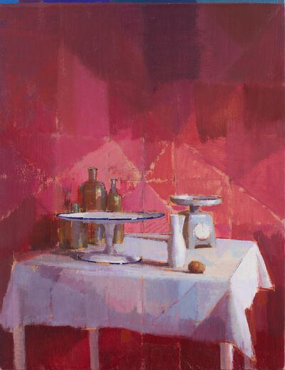 Hiroshi Sato, 'White and Red with Kiwi', 2018