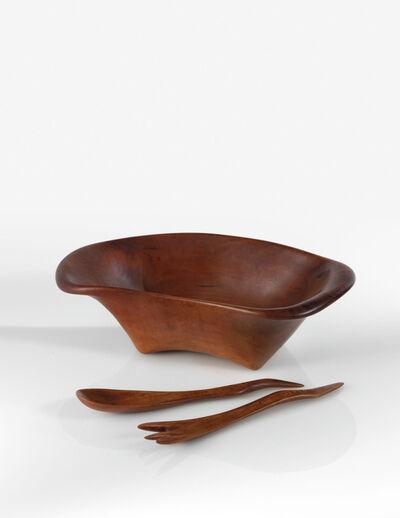 Wharton Esherick, 'Bowl and Salad Servers', 1961-1962