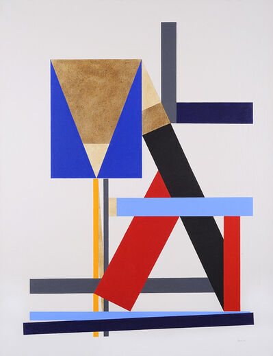 George Johnson, 'Construction with Brown Triangle', 1986