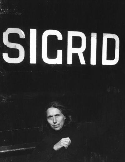 Robert Frank, 'Iona, Nova Scotia (Sigrid)', 1980