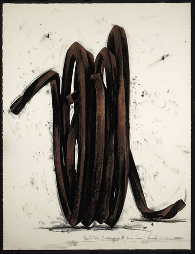 Bernar Venet, 'Two Undetermined Lines, 1990', 1990