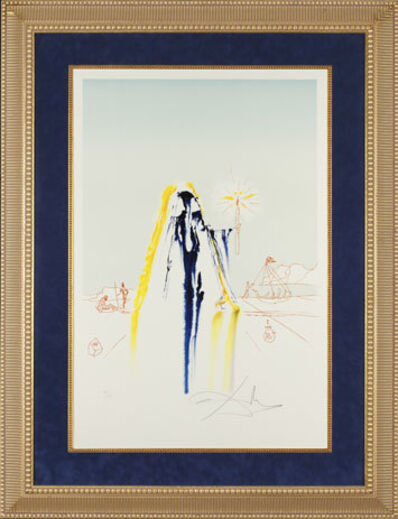 "Salvador Dalí, '""Invisible Face"" Hand Signed Salvador Dali Lithograph', 1941-1957"