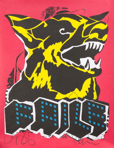 FAILE, 'Faile Dog (Blacklight)', 2015