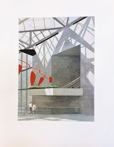 Richard Haas, 'Interior with Calder Mobile at the National Gallery', ca. 1990
