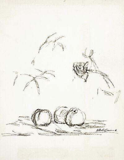 Alberto Giacometti, 'Fleurs from Souvenirs de Portraits d'Artistes Jacques Prevert', 1972