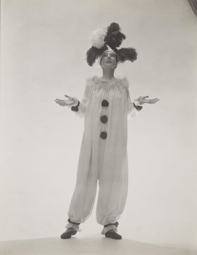 George Platt Lynes, 'Margaret French, in Clown Suit', ca. 1945
