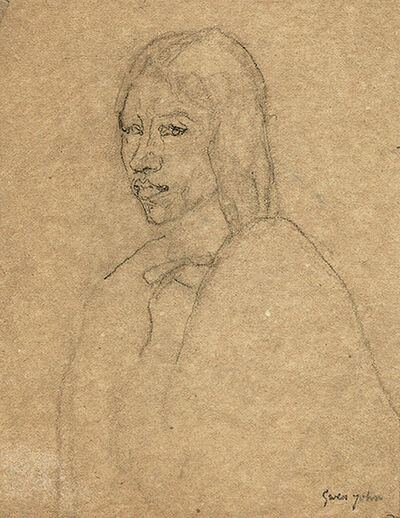 Gwen John, 'Cloaked Woman', Probably executed during the late 1910s – early 1920s