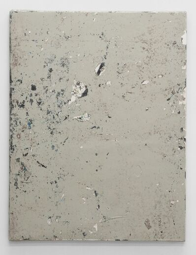 Olve Sande, 'Linoleum composition in grey with knife II', 2012