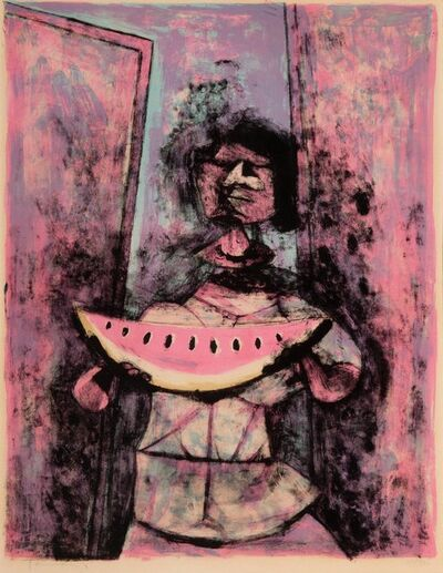 Rufino Tamayo, 'Mujer con Sandia (Woman with Watermelon)', 1950