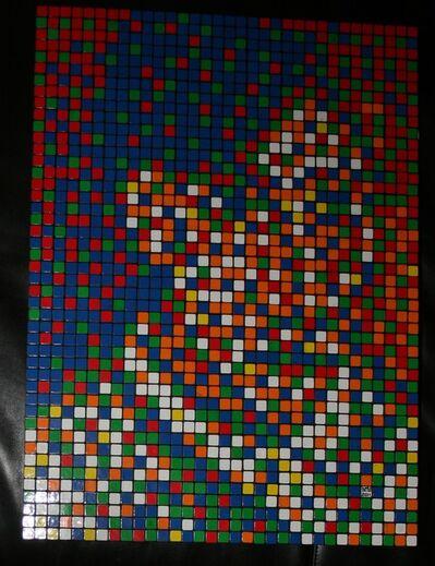 Invader, 'Rubik autoportrait 1907', 2011
