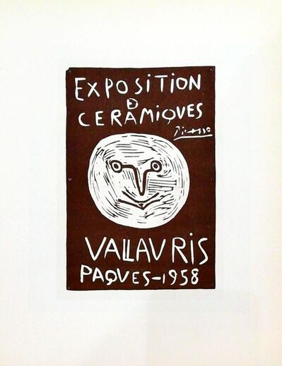 Pablo Picasso, 'Exposition Vallauris 1958 - face', 1959