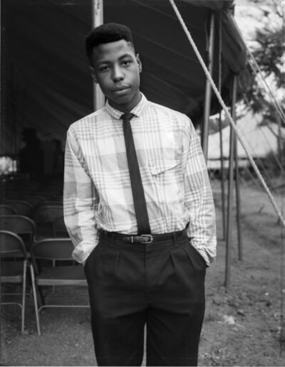Dawoud Bey, 'A Young Man at a Tent Revival, Brooklyn, NY, 1989', 2018 print