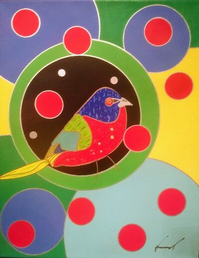 Howard Kurtzman, 'When Laura Sees a Painted Bunting, I see a Painted Bunting', 2019