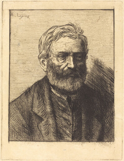 Alphonse Legros, 'Victor Hugo, 1st plate'